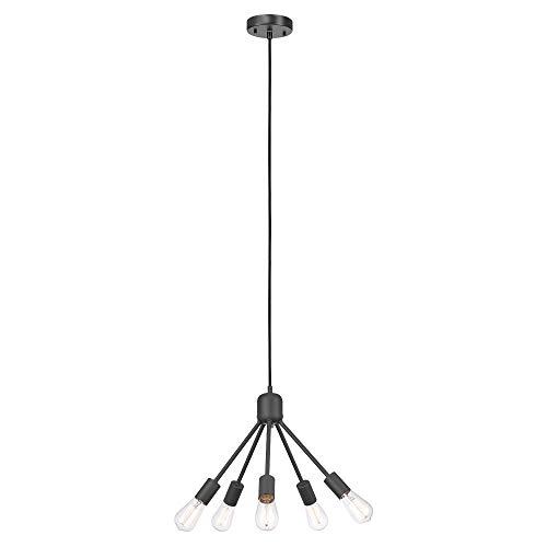 Matte Black Five Light Chandelier - Globe Electric 60472 Shae 5-Light Chandelier, Matte Black