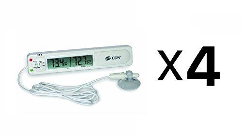 CDN Audio Visual Refrigerator Freezer Alarm Thermometer Temperature (4-Pack)
