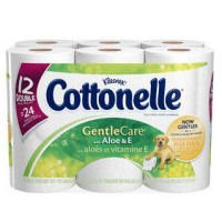 Cottonelle Gentle Care Toilet Paper Double Rolls With Aloe &