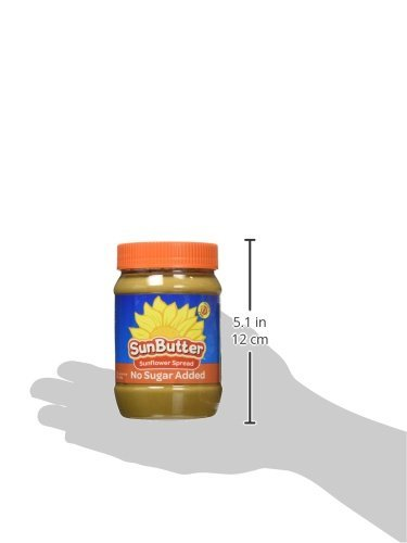 SunButter Natural No Sugar Added Sunflower Butter with hint of salt (Pack of 6) 6 Pack of 6 jars Natural, simple and delicious peanut butter alternative with 7 grams of protein per serving Free from top 8 food allergens: peanuts, tree nuts, milk, eggs, wheat, fish, shellfish and soy