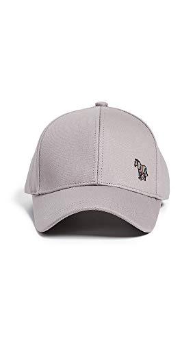 PS Paul Smith Men's PS Zebra Baseball Cap, Grey, One Size