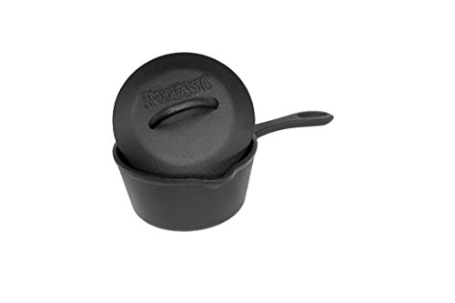 Bayou Classic 7441 Cast Iron Pot with Self-Basting Lid, 1 Qu