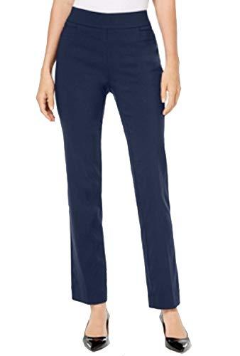 JM Collection Petite Tummy Control Pull-On Pants (Intrepid Blue, P/L)