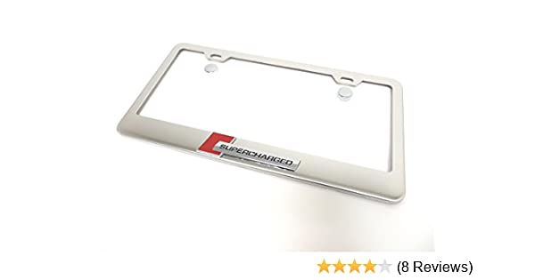 3D SUPERCHARGE Audi Quattro Emblem Stainless Steel License Plate Frame Rust Free