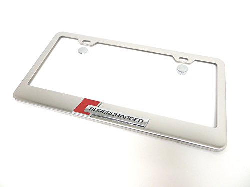 Deepro 3D Supercharged Chrome Stainless Steel License Plate Frame Holder Sportline Turbo