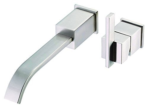 Danze D216044BNT Sirius Single Handle Wall Mount Lavatory Faucet Trim, Brushed Nickel, Valve Not Included by Danze - Sirius Sink Faucet
