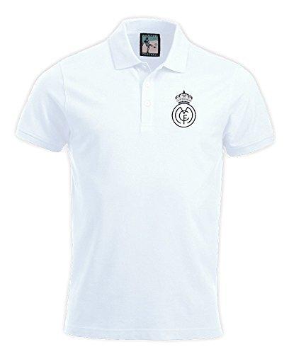 Real Madrid 1920s Polo Fútbol Nuevo tallas S-XXXL Logotipo Bordado ...