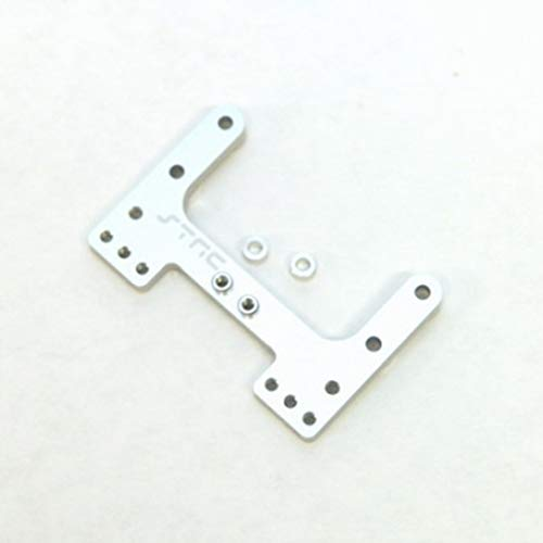 Aluminum Link Rear Camber - ST Racing Concepts STC9564S Aluminum Rear Camber Link Plate for The SC10, B4 and T4 (Silver)