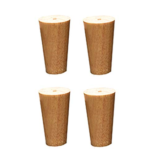 CRKY Solid Wood Furniture Legs DIY Tapered Support feet, 30cm Polished Sofa Legs, Replaceable Computer Desk, TV Cabinet Legs (4 Pieces)