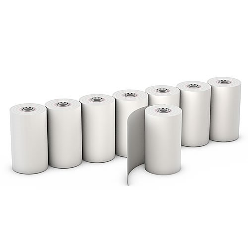 Thermal Paper Rolls POS Receipt Paper 2 1/4'' x 30' (50 Rolls) Wireless Debit/Credit Card Machine (Debit Card Machine Paper Roll)
