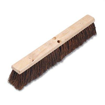 24 3 1//4 Natural Palmyra Fiber Floor Brush Head