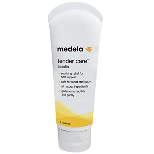 Breastfeeding Ointment (Medela Lanolin Nipplecream for Breastfeeding, All Natural Nipple Cream, Tender Care Lanolin, 2 Ounce Tube)