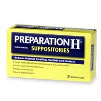 Preparation H Suppositories 24'S sku105767