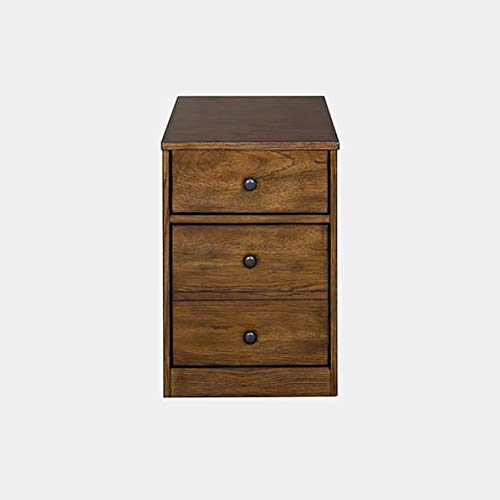Wood Mobile Filing Cabinet - Filing Cabinet with 2 Drawers - Oak