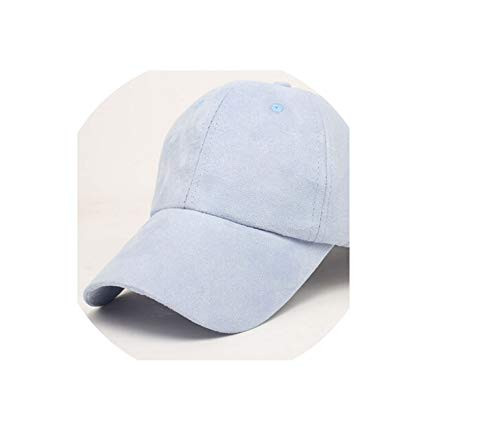 - Man Woman Baseball Hats New Caps Casual Hat Suede Snapback Hat Hip Hop Baseball Cap,Blue