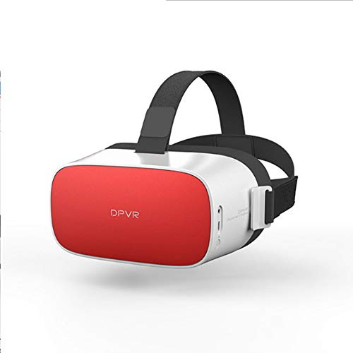 RZJ-Home appliance 3D VR Virtual Reality Glasses, One Machine with Artificial Intelligence Voice, Free Bluetooth Handle,hipsterred64G ()