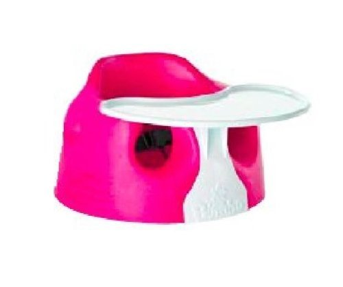 BUMBO Floor Seat and Tray Combo (Magenta) by Bumbo