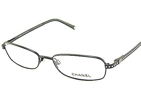 New Chanel 2075-B 2075B 101 Swarovski Crystal Temple-Black Frame Eyeglasses