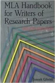 mla handbook for writer of research papers