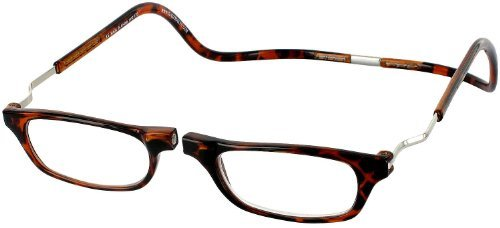 CliC XXL Adjustable Front Magnetic Connect Expandable Reading Glasses; Tortoise ()