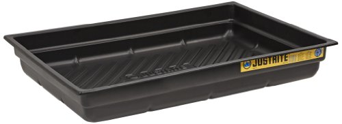 Justrite 28716 EcoPolyBlend Polyethylene Spill Tray, 38
