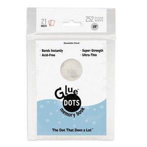 Glue Dots 3/8-Inch Memory Dot Sheet, 252 Clear - Inch 0.375 Memory