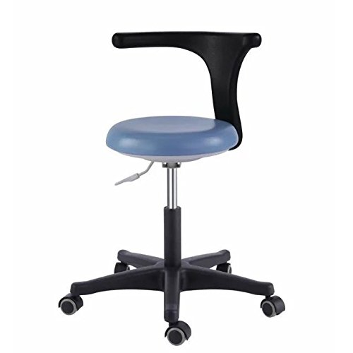 Dental Medical Office Stools Assistant's Stools Adjustable Nurse Chair PU Leather Blue by SuperElight