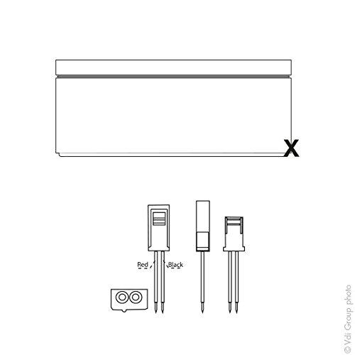s Batterie Yuasa Batterie plomb AGM NP0.8-12 12V 0.8Ah YUASA