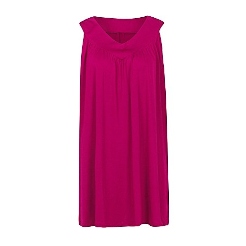Kleid Damen Sommer, BURFLY 2018 Neueste mode Frauen Sommer Oversize lose  ärmelloseV-AusschnittVerschiedene Farben 0dae1485d0
