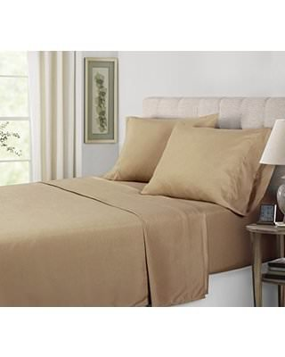 Bon Real 450 Thread Count Egyptian Cotton Expanded/Olympic Queen Size 4 Piece Sheet  Set