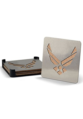 Universal US Air Force Boaster Stainless Steel Coaster Set of - Air Coaster Force