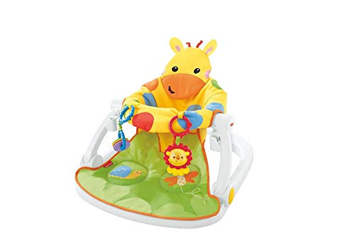 Fisher-Price DJD81 Giraffe Sit-Me-Up Floor Seat, Portable Baby Chair or Seat with Removable Tray, Rattle and Teething…