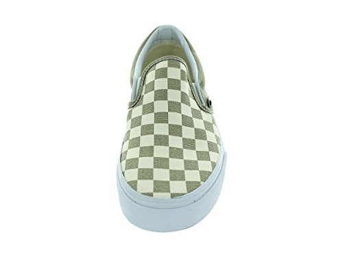 Vans U Classic Slip-On (Checkerboard)B - Zapatillas de tela Unisex adulto Golden Coast Laurel Oak True White