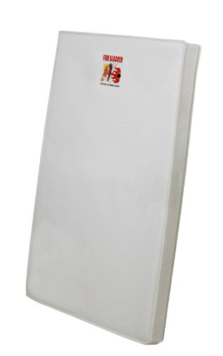 Dream On Me 3-Inch Foam Playard Mattress, White 27-CO