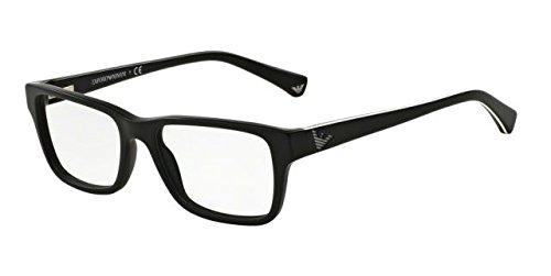 Armani EA3057 Eyeglass Frames 5364-52 - Matte - Armani Emporio For Frames Men