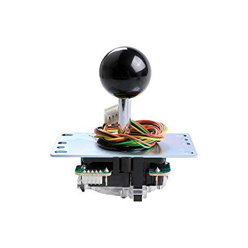 Sanwa Denshi Japan JLF-TP-8YTFAST SHIPPING Black Ball Top Handle Arcade Joystick Part 4 & 8 Way Adjustable - Hori Fight Stick Repair Part - Mad catz SF4 Tournament Joystick Compatible