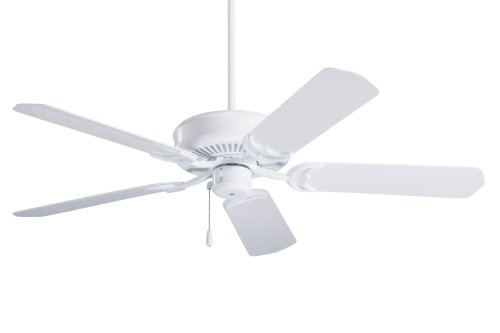 (Emerson Ceiling Fans CF654WW Sea Breeze 52-Inch Indoor Outdoor Ceiling Fan, Wet Rated, Light Kit Adaptable, Appliance White)