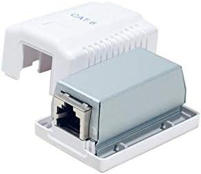 Dexlan - Caja para Conector RJ45 (1 Puerto, Cat 6, con blindaje): Amazon.es: Electrónica