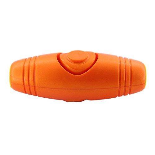 Muxika New 2 In 1 Finger Spinner Fidget Roller Stick Flip Trick Roll Stress Relief Gadgets (Orange)