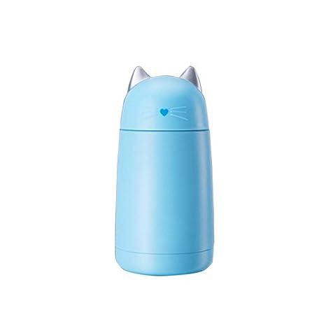 Amazon.com: Taza termo de acero inoxidable con forma de gato ...
