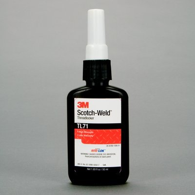 3M (TL71) Threadlocker TL71 Red, 0.33 fl oz/10 mL Bottle [You are purchasing the Min order quantity which is 10 Each] by Scotch®