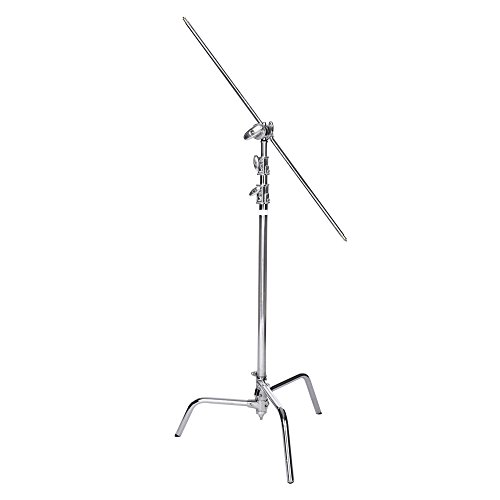 Interfit INT308 C-Stand with Boom Arm - Chrome