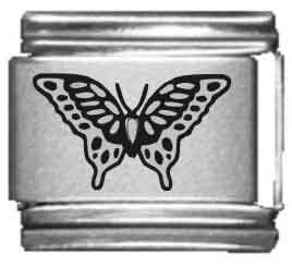 Butterfly Laser Italian Charm