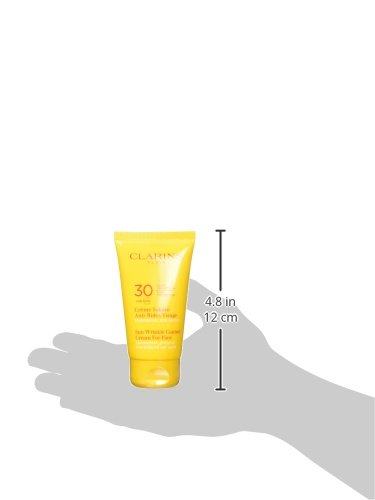 Clarins Sun Wrinkle Control Cream High Protection for Face UVB/UVA 30 for Unisex, 2.5 Ounce