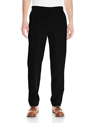 Red Kap Uniforms Men's Pleated Twill Slacks, Black, 30x34