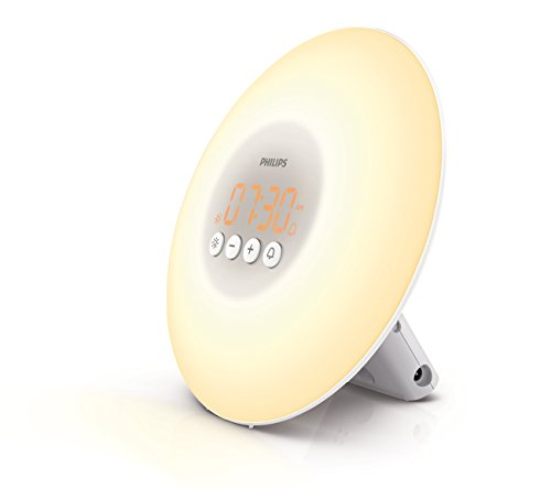 Philips Wake-Up Light Alarm Clock with Sunrise Simulation, White (HF3500/60) ()