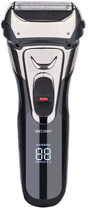 AUED Afeitadora eléctrica para Hombres, LCD Razor Beard Trimmer ...