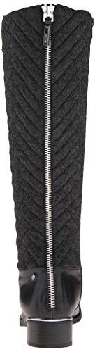 Calvin Klein Womens GIADA2 Riding Boot Black/Heather Grey bEUBi