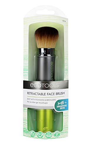 EcoTools Retractable Kabuki Travel Foundation Brush for Blush Bronzer & Powder (Color may vary)