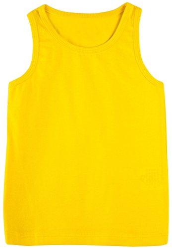 [Lilax Girls' Racerback Tank Top 12 Yellow] (Cute Cheerleading Outfits)